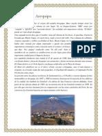Arequipa Historia Lugares Danzas Platos