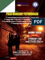 Brosur Pekan Workshop Pertambangan PERHAPI