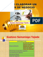 Plan de Negocios I y II-Gustavo Samaniego
