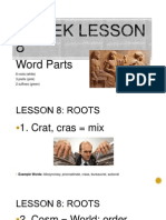 greek lesson 8 word parts