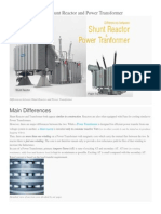 Differences Between Shunt Reactor and Power Transformer