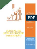 Manual de Evaluacion de Desempeño
