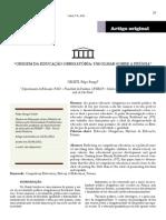 CELETI, Filipe Rangel. Origem Da Educação Origatória - Um Olhar Sobre a Prússia