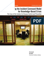 Adapting the Incident Command Model for Knowledge-Based Crises