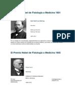 El Premio Nobel de Fisiología o Medicina 1901
