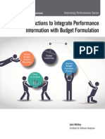 Four Actions to Integrate Performance Information With Budget Formulation