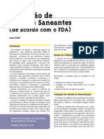 Validação de Agentes Saneantes (de Acordo Com o FDA)