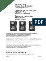 ALTAIR Pro Instruction Manual - En MX-ES CA-FR Monogas