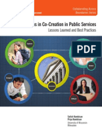 Engaging Citizens in Co-Creation in Public Service