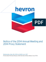 Chevron 2014 Proxy Statement