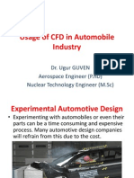Usage of CFD in Automobile Industry