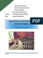Organizacion Del Edo. y La Funcion Publica