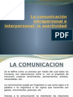 La Comunicación Intrapersonal e Interpersonal