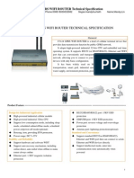 f3124 Gprs Wifi Router Specification