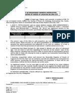 Affidavit of Instruction