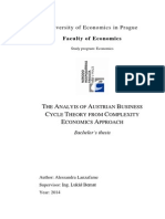 Austrian Business Cycle Theory From Complexity Economics Approach