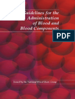 Guidelines for the Administration of Blood and Blood Components