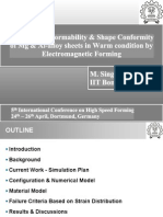 Study on the Mg and Al alloy in Warm condition by ElectroMagnetic Forming