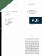 Angelini, M.I., Niente è Senza Voce, Magnago, Ed. Qiqajon, 2007