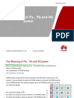 The Meaning of Pa、Pb and RS Power