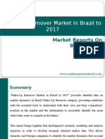 Make-Up Remover Market in Brazil to 2017