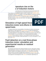 Effect of Temperature Rise on the Performance of Induction Motors