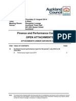 Finance and Performance Committee Agenda - August 14 - Attachment