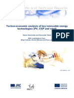 Techno-economic Analysis of Key Renewable Energy Technologies (PV, CSP and Wind)