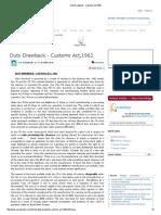 Duty Drawback - Customs Act,1962
