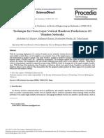 Technique for Cross-Layer Vertical Handover Prediction in 4G Wireless Networks