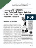 Kosovo StatisticsAndSlobodan 2002 Chance
