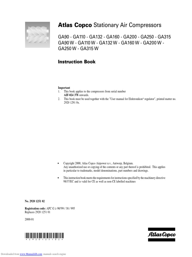 manual atlas copco ga90 mains electricity valve rh scribd com atlas v user guide ula atlas v user's guide