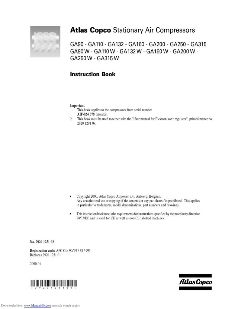 atlas copco ga 45 ff manual rh e14 satori msk ru Atlas Copco GA 45 Manual Atlas Copco Cagi Data Sheets