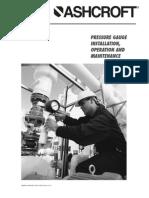 Ashcroft pressure gauge - Rev.01/12