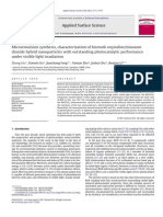 Microemulsion Synthesis, Characterization of Bismuth Oxyiodinetitanium