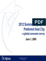 2012 Summer Olympics Preferred Host City - A Global Consumer Survey
