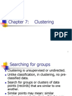 Ch7 Clustering