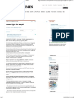 Green Light for Rapid - Today's Paper - New Straits Times