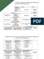 Programme Sheet (New)