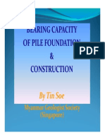 Bearing Capacity of Pile Foundation & Construction)_TinSoe-PPT