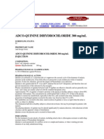 ADCO-QUININE DIHYDROCHLORIDE Indications