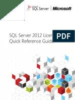 SQL Server 2012 Licensing Reference Guide