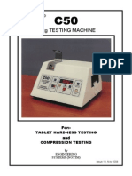 C50 Tablet Hardness Tester Handbook