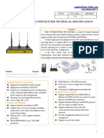 f3b32 Wcdma&Wcdma Wifi Router Specification