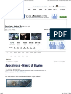 Apocalypse - Magic of Skyrim at Skyrim Nexus - Mods and