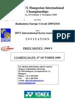 34th YONEX Hungarian International Championships