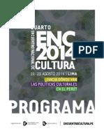 ENC 2014 - Programa Del Cuarto Encuentro Nacional de Cultura