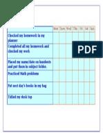 colourful checklist