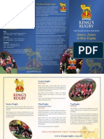 King's Rugby Flier