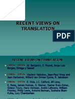 Recent Views on Translation